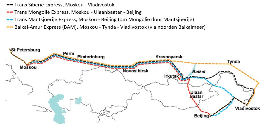 Routes Transsiberië express
