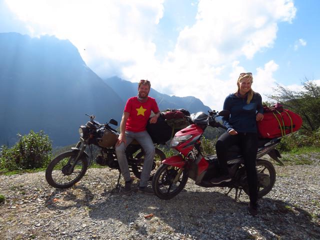 Motorroute door Vietnam