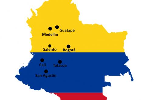 Route door Colombia