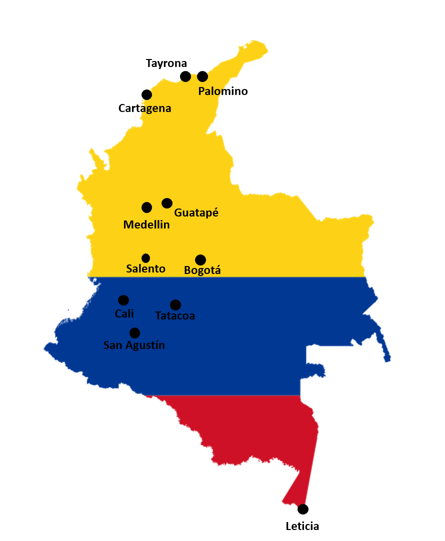 Route door Colombia