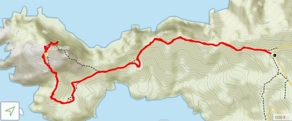 Capo Rosso route