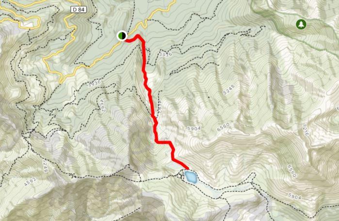 Lac de Nino route